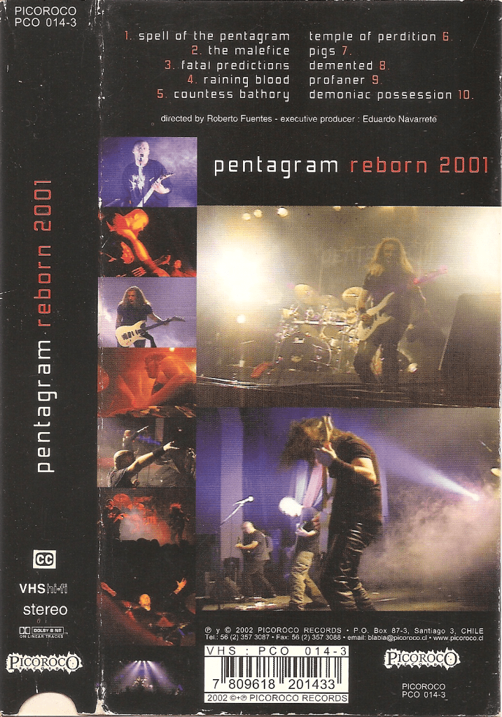 Pentagram - Reborn 2001 back cover vhs